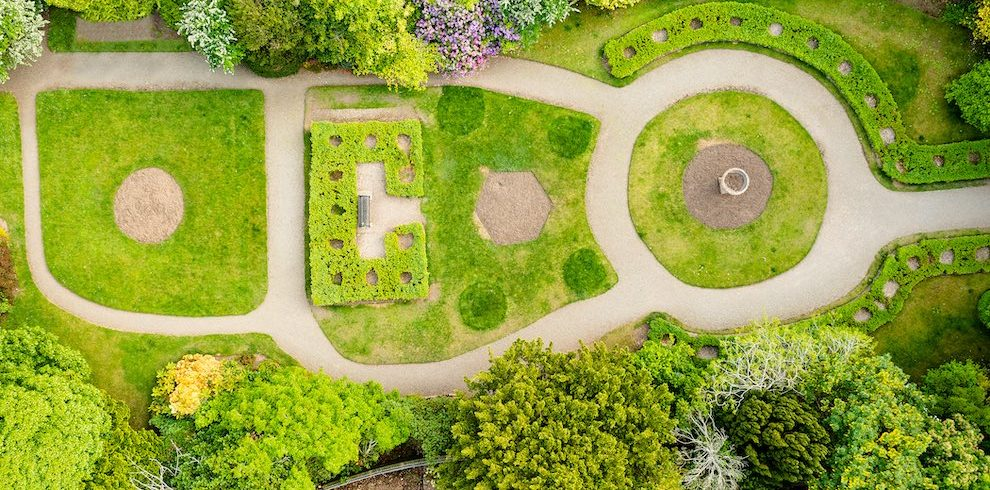 Aerial view of Corsehill Gardens.