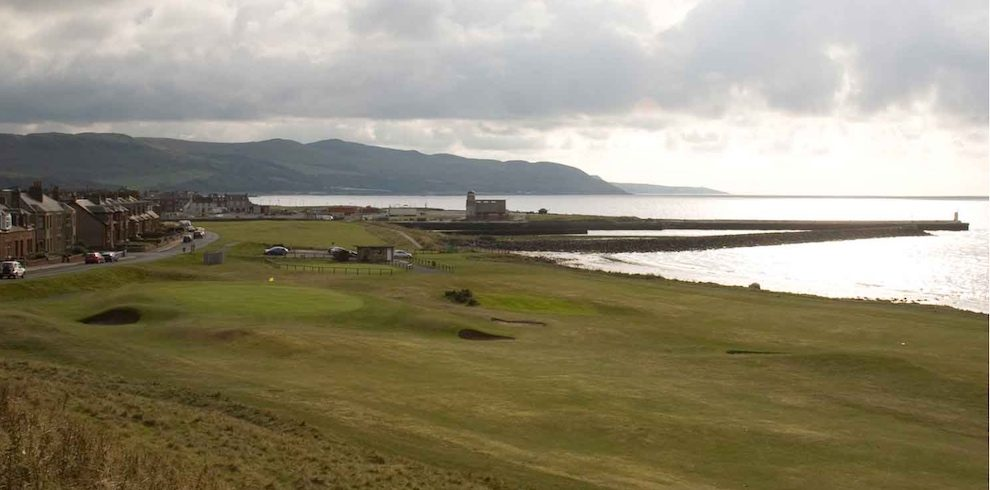 Girvan golf course with stunning views of the coastline.