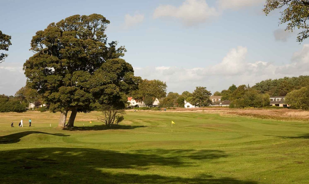 The immaculate golf course at Loch Green.